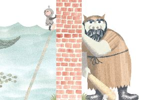 An illustration from The Wall in the Middle of the Book