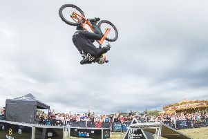 Stunt cycling sensation Danny MacAskill in action