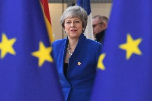 Prime Minister Theresa May arrives at the European Council in Brussels. Picture: Stefan Rousseau/PA Wire