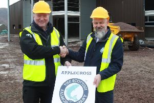 Scottish Salmon Company chief Craig Anderson and recirculation project manager Richard Polanski. Picture: Contributed
