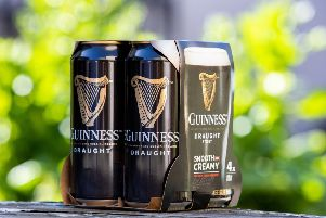 Multipacks of Guinness, Harp and Smithwick's will soon be sold in cardboard packaging. Picture: Naoise Culhane