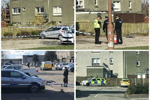 Police swooped on Kenilworth Rise in Livingston this morning. Pictures: Contributed