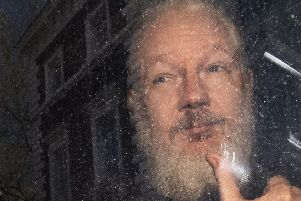 The WikiLeaks founder. Picture: Victoria Jones/PA Wire
