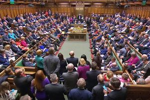 Members of Parliament during Prime Minister's Questions in the House of Commons