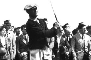 Ben Hogan drives from the 2nd tee at Carnoustie. He survived a serious car crash and went on to win more majors. Pictuer: Keystone/Getty Images
