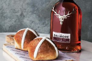 "A whisky infused ""Scotch Cross Bun"" created for Easter will be on sale in New York and London this weekend. PRESS ASSOCIATION"