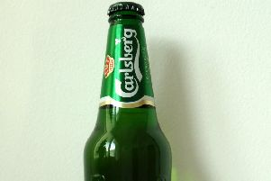 A bottle of Carlsberg. Picture: Wikimedia Commons.