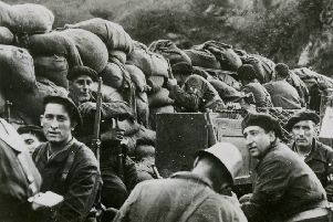 Republican forces during the Battle of Irun in 1936. More than 500 Scots volunteered to join the Republican cause in the Spanish Civil War. Picture: Wikicommons