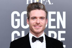 Richard Madden arrives for the 76th annual Golden Globe Awards. Picture: Valerie Macon/AFP/Getty Images