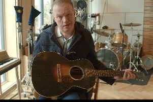 Edwyn Collins in his home and studio in Helmsdale, Sutherland. Picture: BBC Scotland