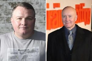 "Irvine Welsh (right) has said goodbye to his ""amazing friend"" Bradley Welsh."