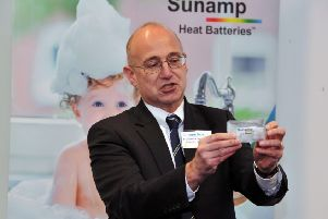 Professor Colin Pulham, Head of the School of Chemistry at the University of Edinburgh, and winner of the Powerful Partnerships award with Sunamp Ltd at the Scottish Knowledge Exchange Awards 2019
