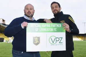 Doug Mutter, VPZ Director and Raffa De Vita, Livingston FC.