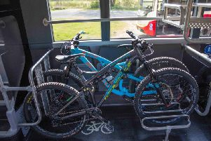 The buses have space for two bikes with two more to follow