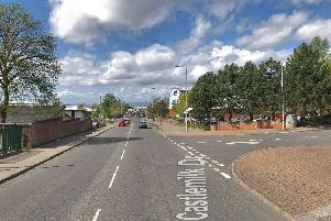 Emergency services rushed to the scene at Castlemilk Drive. Picture: Google Street View