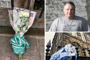 Tributes are being laid at the scene
