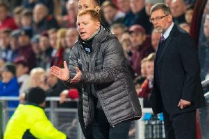 Neil Lennon and Craig Levein will meet other twice between now and the end of the season. Picture: SNS