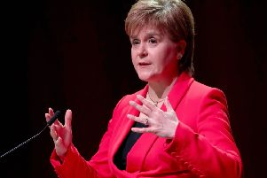 Nicola Sturgeon denounced 'dog whistle xenophobia' at the STUC conference. Picture: PA