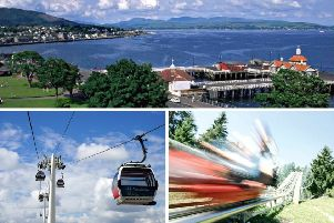 Under new plans the town of Dunoon could get a cable car and an 'alpine coaster'. Pictures: Christine Matthews/Geograph, Pixabay, TVB Imst/Flickr