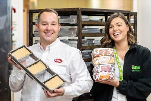 James Drury of Bells Food Group and Heather Turnbull, Asda's regional buying manager for Scotland. Picture: Ian Georgeson