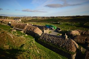 Image of a Blackhouse village on Lewis.