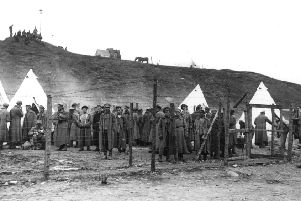 Russian prisoners of war at a camp in Troitsa on the Murmansk-Archangel Front in 1919 during the Allied intervention in Russia (Picture: J W Lane Collection/Hulton Archive/Getty Images)