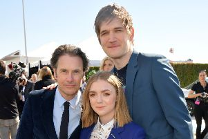 From left to right: Josh Hamilton, Elsie Fisher and Bo Burnham attend the 2019 Film Independent Spirit Awards on February 23, 2019 in Santa Monica, California. PIC: Matt Winkelmeyer/Getty Images