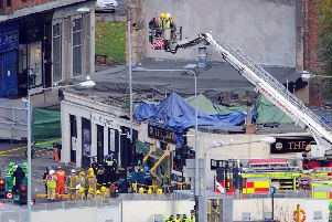 The Clutha Vaults by the Clyde in Glasgow after a police helicopter crashed. Picture: Robert Perry / TSPL
