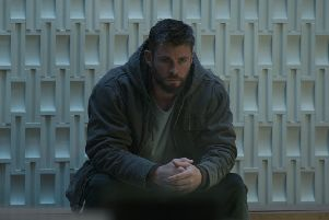 Chris Hemsworth as Thor, who supplies some of the biggest laughs in Avengers: Endgame when he retreats to 'New Asgard' (really the Scottish Borders village of St Abbs) in order to drink his bodyweight in beer.
