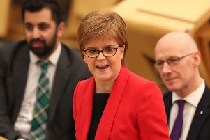 First Minister Nicola Sturgeon is due to address MSPs