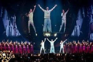 Got Soul Choir on stage with Take That