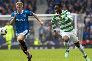 Moussa Dembele in action for Celtic against Rangers. Pic: SNS/Alan Harvey