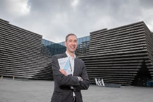 Scottish Futures Trust chief executive Peter Reekie launches the organisation's five-year corporate plan at the V&A in Dundee today. Picture: Kenny Smith