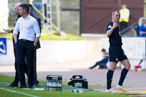 Frustration for 'Kenny Miller as Dundee go down to St Johnstone in Perth. Picture: SNS