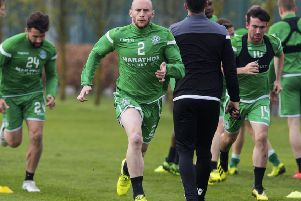 David Gray is put through his paces in training. Picture: Paul Devlin/SNS