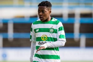 Karamoko Dembele in action for Celtic reserves. Picture: SNS
