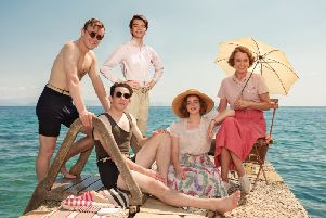Keeley Hawes as Louisa Durrell in the final season of ITV's  popular Corfu-set show, with her screen family, Daisy Waterstone as Margo, Milo Parker as Gerry, Josh O'Connor as Larry and Callum Woodhouse as Leslie. ' Picture: ITV, SID GENTLE PRODUCTIONS