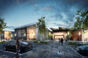 An artist's impression of the planned new high-tech campus