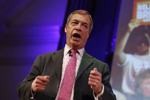 Support in Scotland for Nigel Farage's party stands at 13 per cent. Picture: Tolga Akmen/AFP/Getty Images