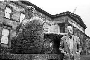 Douglas Hall at the Scottish Gallery of Modern Art in 1986. (Picture: Hamish Campbell)