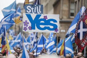 A pro-independence march makes his way through Glasgow in 2018. Picture: John Devlin