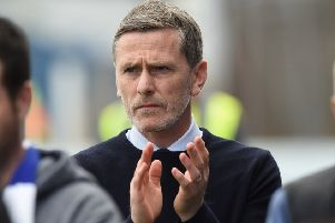 Queen of the South face Montrose on Tuesday night but Gary Naysmith will not be in the dug-out. Picture: Sammy Turner/SNS