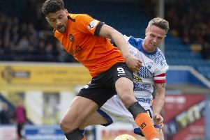 Dundee United's Osman Sow will be involved in the Premiership play-off semi-finals. Picture: SNS