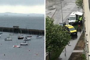 Pictures from the scene at Granton Harbour