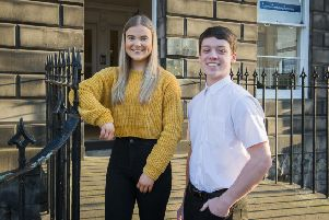 Olivia Boath and Nathan McEwan, who took part in the pilot scheme. Picture: Chris Watt.