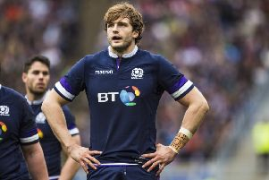 Richie Gray last played for Scotland in the 2018 Six Nations, against Italy. Picture: SNS