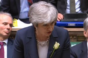 Theresa May faced calls to quit from her own MPs during PMQs