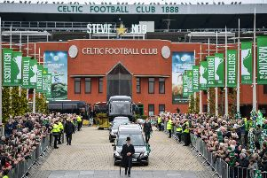 The funeral cortege proceeds down the Celtic Way. Picture: SNS Group