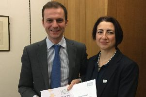 YAS member, Dr Silvia Paracchini FRSE, and her local MP Stephen Gethins.