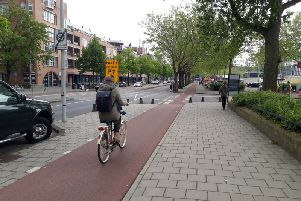 Cycle lanes in Amsterdam are like a separate road network. Picture: The Scotsman